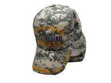 Iraq WAR Veteran VET Camo Baseball Embroidered Hat Ball Cap 781C