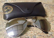LARGE 62MM Ray Ban Aviator RB3025 Silver Frame Silver Mirror No reserve