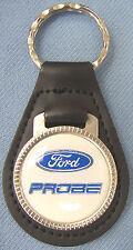 Vintage White Ford PROBE Black Leather USA Keyring Key Fob 1993 1994 1995 1996
