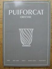 PUIFORCAT Orfevre Verkaufskatalog Kladde mit 48 Vorlagen Porzellan, Besteck etc.