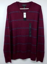Banana Republic Sweater V Neck Merino Wool Large Burgundy  Long Sleeve NWT