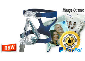 ResMed Mirage Quattro Full Face CPAP Mask & Headgear KIT - All Sizes