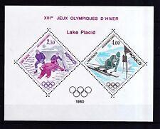 Monaco 1980 postfrisch Sonderdruck MiNr. 1419-1420  Olympische Winterspiele