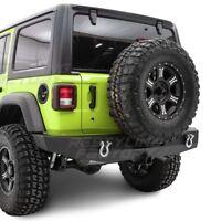Rock Crawler Full Width HD Rear Bumper+Receiver Hitch for 18-19 Jeep Wrangler JL
