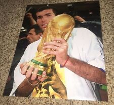 Zinedine Zidane Signed 11x14 France World Cup Photo with proof