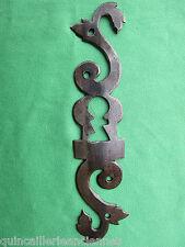 Entrée serrure porte fer forgé ouvragée Louis XV ancienne hauteur 17,7 cm