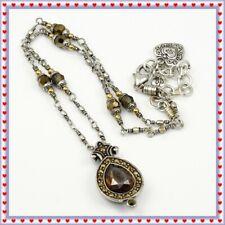 Brighton American Beauty Retired Topaz Pendant Necklace