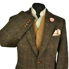 "Vtg Barutti Harris Tweed Checked Tailored Hacking Jacket 42"" #185 IMMACULATE"