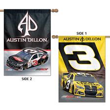 Austin Dillon 2014 Wincraft #3 Dow/Cheerios 28x40 2 Sided Banner/Vertical Flag