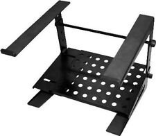 NEW Adjustable DJ Laptop Stand.Concert Platform Gear.Black.Two Tier.Hold Mixer.