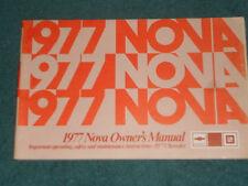 1977 CHEVROLET / NOVA OWNER'S MANUAL / ORIGINAL GUIDE BOOK