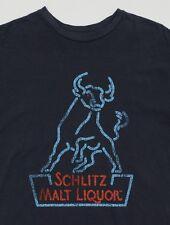 Men's RETRO BRAND Black SCHLITZ MALT LIQUOR T-Shirt Tee Shirt S Small NWT NEW