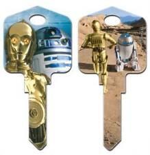 """STAR WARS """" C-3PO & R2-D2  """"  House Key Blank  WEISER WR3 WR5"""