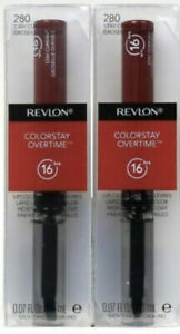 2 PACK Revlon Colorstay Overtime Lipcolor, 280 Stay Currant