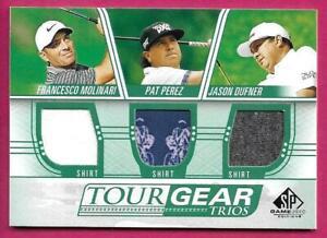 2021 UD Sp Game Used Golf MOLINARI / PEREZ / JASON DUFNER Tour Gear Trios Shirt
