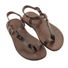 Sandali uomo pelle e cuoio made in Italy artigianali - Men leather sandals