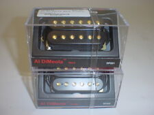DIMARZIO Al DiMeola Neck & Bridge Pickup Set BLACK REGULAR SPACING GOLD POLES