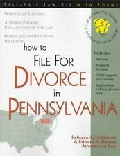 How to File for Divorce in Pennsylvania: With Forms (Self-Help Law Kit-ExLibrary