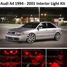 RED PREMIUM Audi B5 A4 S4 1994-2001 INTERIOR FULL UPGRADE LED LIGHT BULBS KIT