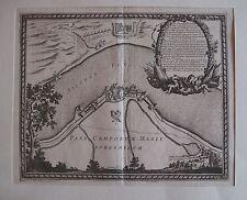 Polen Dirschau/Tczew Ansicht Pfufendorf seltener Original Kupferstich  ~ 1650