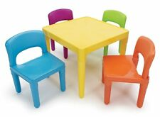 Tutor Kid Home Read Color Table Chair Set Plastic Child Room Furniture Art Patio