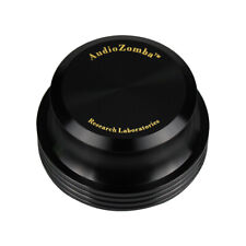 RECORD WEIGHT TURNTABLE STABILIZER PUCK CLAMP in BLACK with Presentation Case