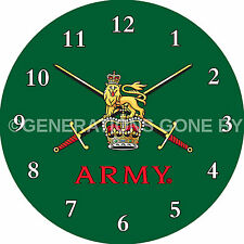 TERRITORAL ARMY GLASS WALL CLOCK