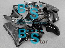 All black Fairings + Tank Cover Bodywork Set kit Kawasaki Ninja ZX12R 02-05 14
