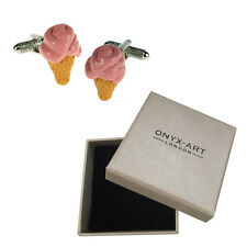 Mens Executive Cufflinks Ice Cream By Onyx Art 99 Style Cone