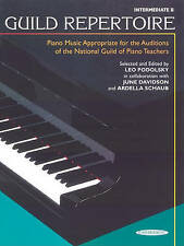 Guild Repertoire -- Piano Music Appropriate for the Auditions of the National...