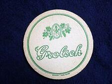 COLLECTIBLE BEERMATS: ORIGINAL OLD GROLSCH~BEERMAT~COASTER~BIERVILTJE~DECKEL