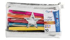 Papermate Flair Original Felt Tip Medium 1.0M Pen Assorted Color Pack Of 10 New
