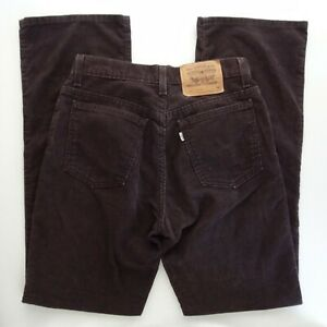 Levi's 917 Cords 9 JR M 9x32 Boot Cut Corduroy VTG Made in USA 10917-4244
