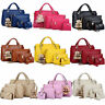 1Set/4Pcs Women Leather Handbag Lady Shoulder Bag Tote Satchel Purse Card Holder