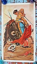 Rare 1961 B. C. Karcher Garcia Bullfighting Matador Poster Bullfighter Print Art
