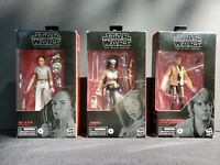 Lot of 3 Star Wars: The Black Series Collectible 6-inch Figures Rey, Jannah Luke