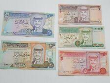 Jordan Half, 1, 5, 10 & 20 Dinar Notes