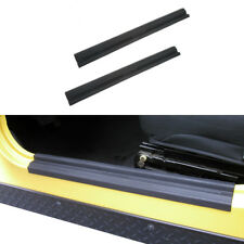 2x Door Sill Scuff Plate in Black Protector For 97-06 Jeep Wrangler TJ&Unlimited