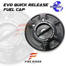 Black CNC Quick Lock Fuel Cap Set For BMW S1000RR 10-18 R1200GS 08-12 F800R S