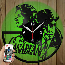 LED Vinyl Clock Casablanca LED Wall Art Decor Clock Original Gift 2950