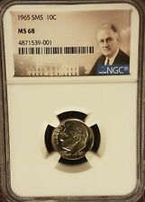 1965 SMS Roosevelt 10c, NGC Certified MS 68
