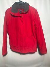 Lands End Red Jacket Fleece Lined Womens XS 2-4 NICE !!