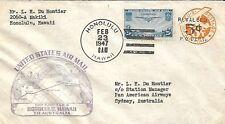 Usa 1947 First Flight Cover Honolulu Hawaii To Australia Fam - 19