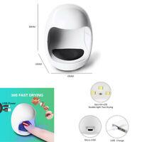 Mini Nail Dryer Lamp 30S Efficient Drying 3W Dual Led Light Source USB Charging