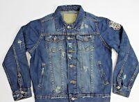 TONY JONES JACKET 6GD11J Petite Size %100 Cotton Blue Denim Jacket