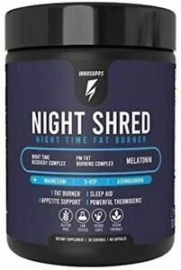 Inno Supps Night Shred - Natural Sleep Support and PM Burner 60 Caps