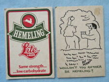 Beer Coaster - Hemeling Brewery Lite Lager - Couple Nude Artwork By Roy Mitchell