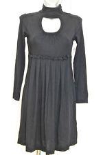 jolie robe tunique noire col boutonné COP COPINE  modèle snowdon taille 2