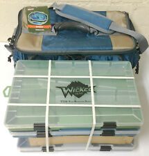 Wicked Gear Bandit Soft Sided Fishing Lure Tackle Bag w 3-3700 StowAway Boxes