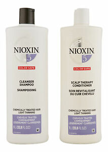 Nioxin System 5 Cleanser & Scalp Therapy Conditioner 33.8 oz. Hair Care Set